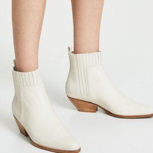 NEW Vince Eckland Chelsea Bootie Vintage White